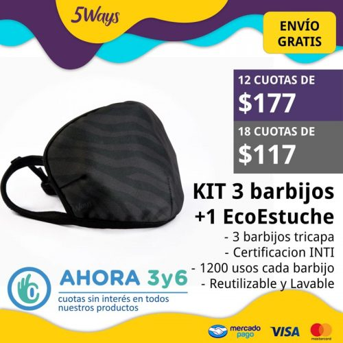 KIT 3 Barbijos